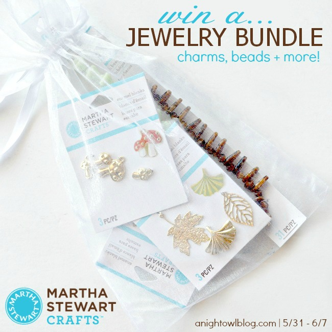 Win Martha Stewart Jewelry at anightowlblog.com!