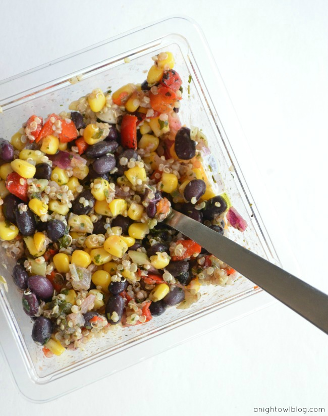 fresh & easy southwest quinoa salad #fneasy
