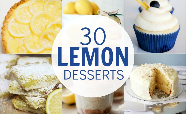 30 Luscious Lemon Desserts | #lemon #desserts #recipes