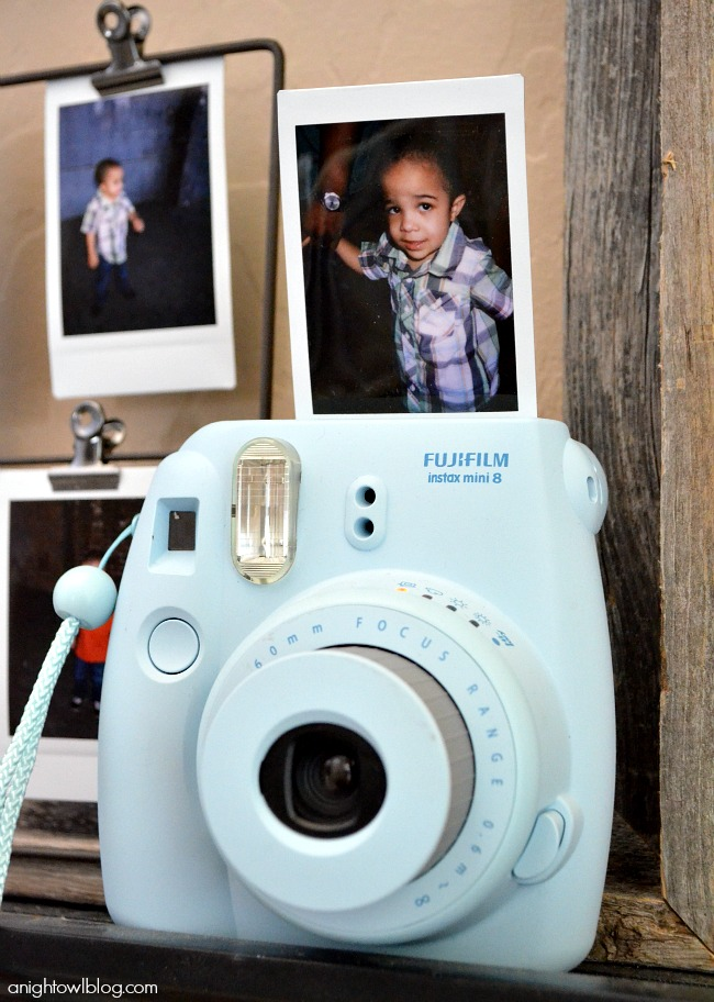 Instax Mini and Photo Display by anightowlblog.com
