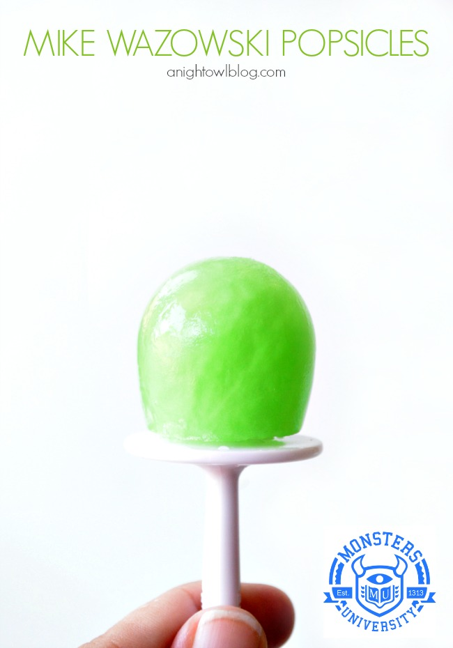 Mike Wazowski Popsicles | #MUJuice #MonstersU #MonstersUniversity