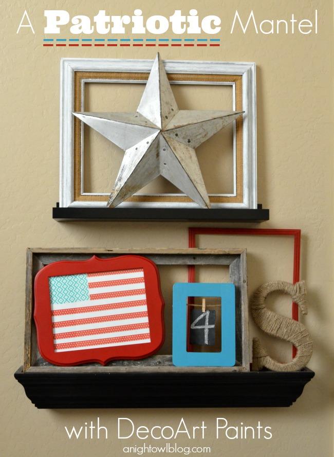 A Patriotic Mantel with DecoArt Paints