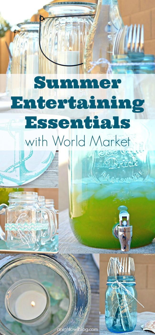 Summer Entertaining Essentials with World Market #SummerFun