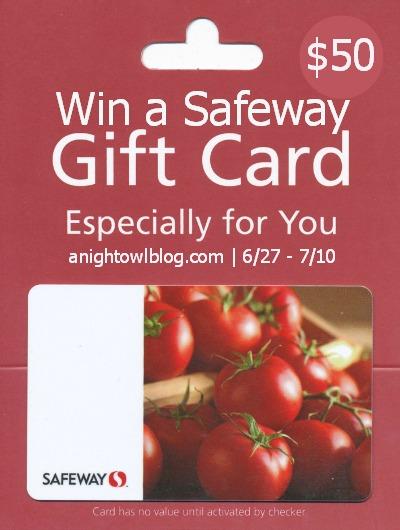 Win a Safeway Gift Card at anightowlblog.com