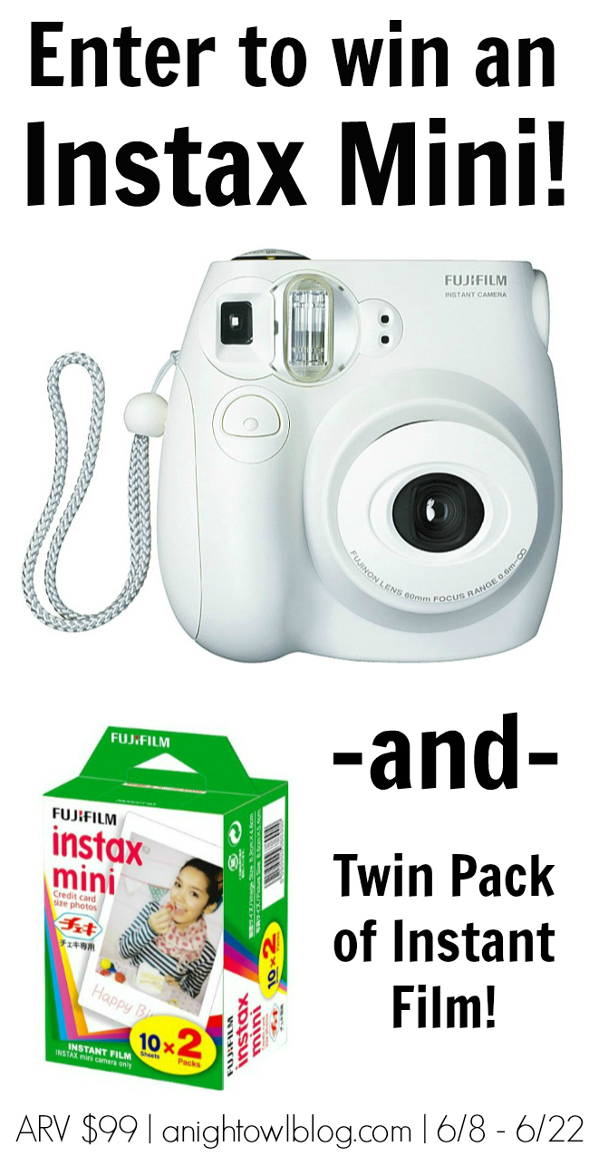 Win an Instax Mini Instant Camera and Film at anightowlblog.com!