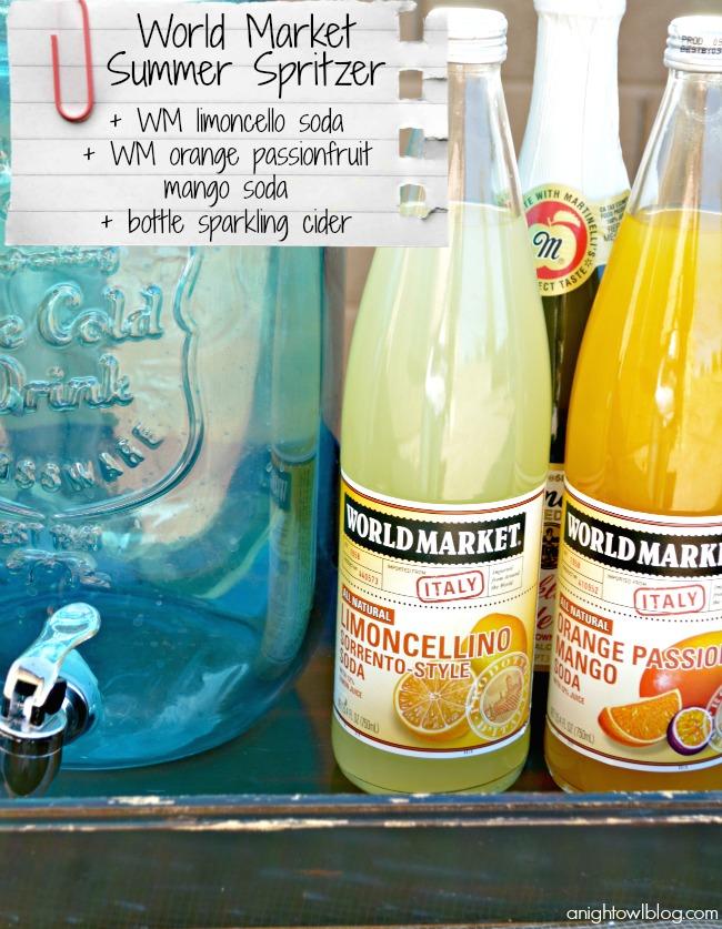 World Market Summer Spritzer Recipe #SummerFun