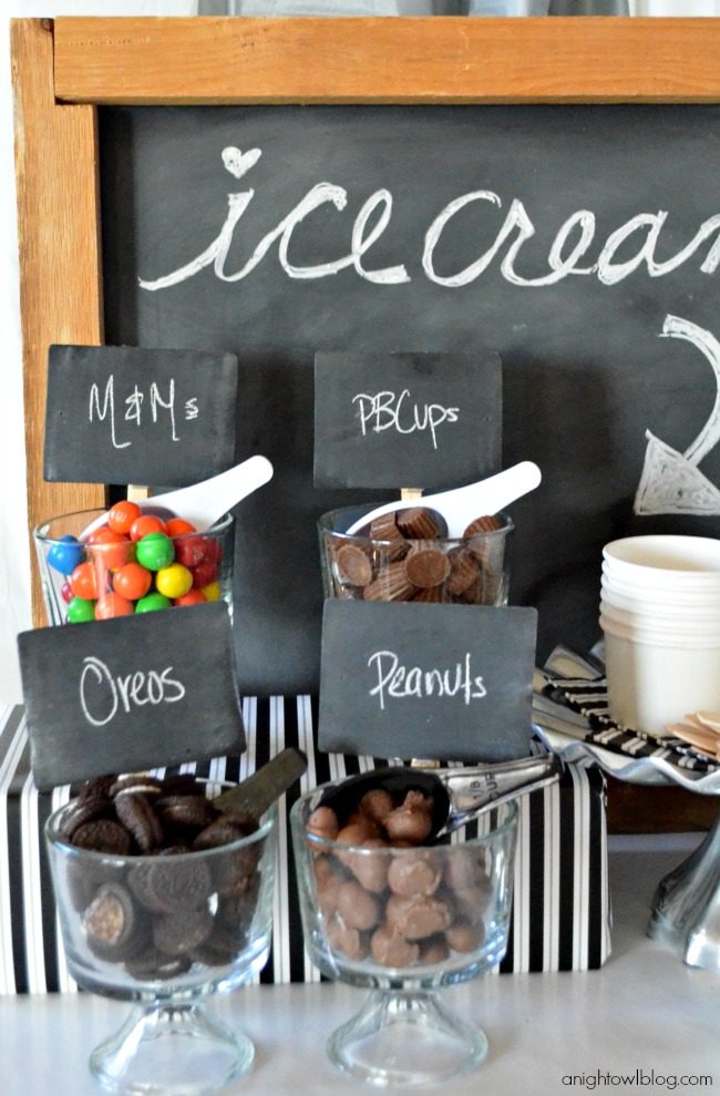 Create an adorable ice cream bar for any party with #MarthaCelebrations!