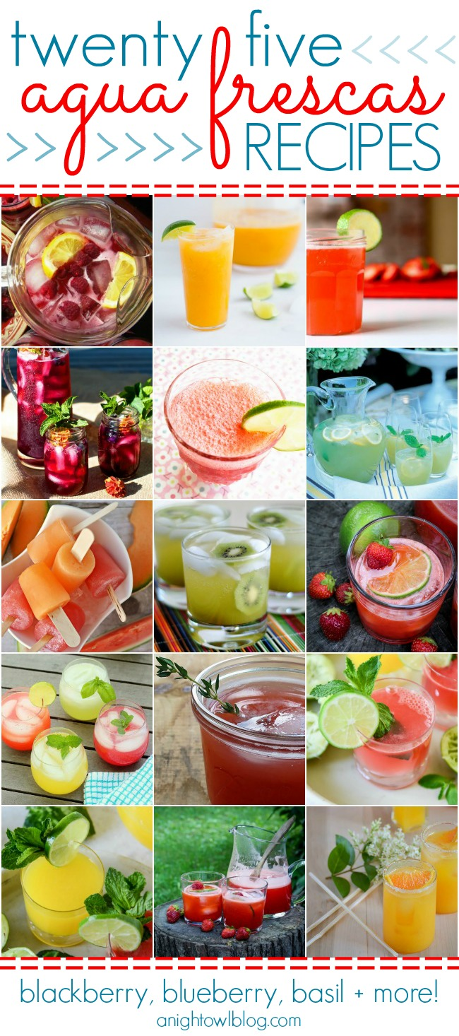 25 Agua Frescas Recipes - Blackberry, Blueberry, Basil and more! | #aguafrescas #summer #recipes