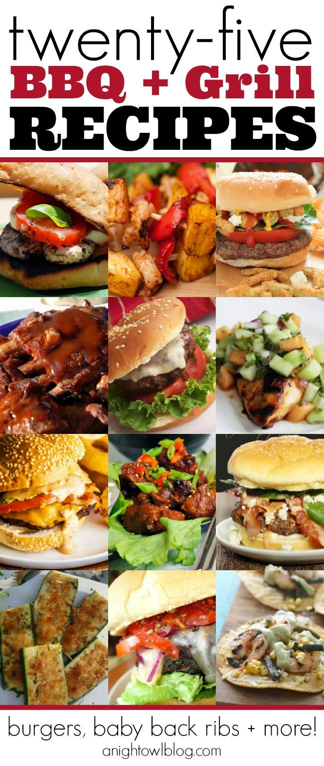 25 Best BBQ and Grill Recipes | #bbq #grill #burgers #ribs #recipes