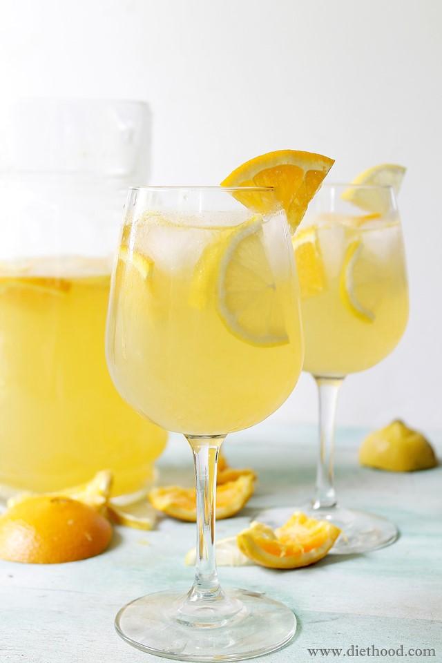 White Sangria | www.diethood.com | www.anightowlblog.com | #recipe #sangria #drinks