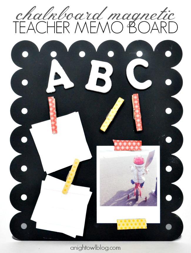 Chalkboard Magnetic Teacher Memo Board | #teacher #gifts #backtoschool #school #chalkboard