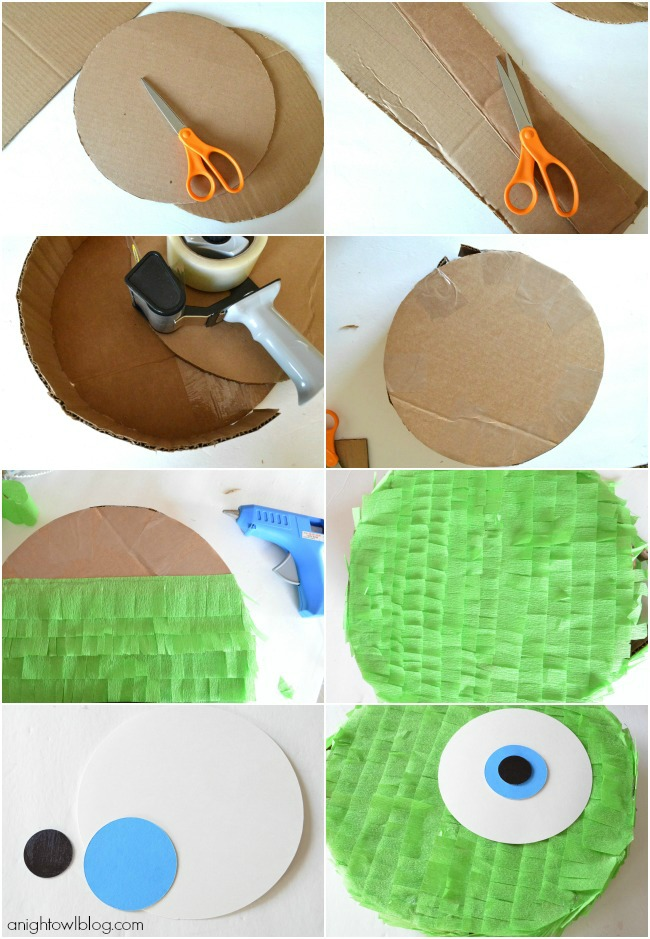 You can make your own Mike Wazowski Pinata!