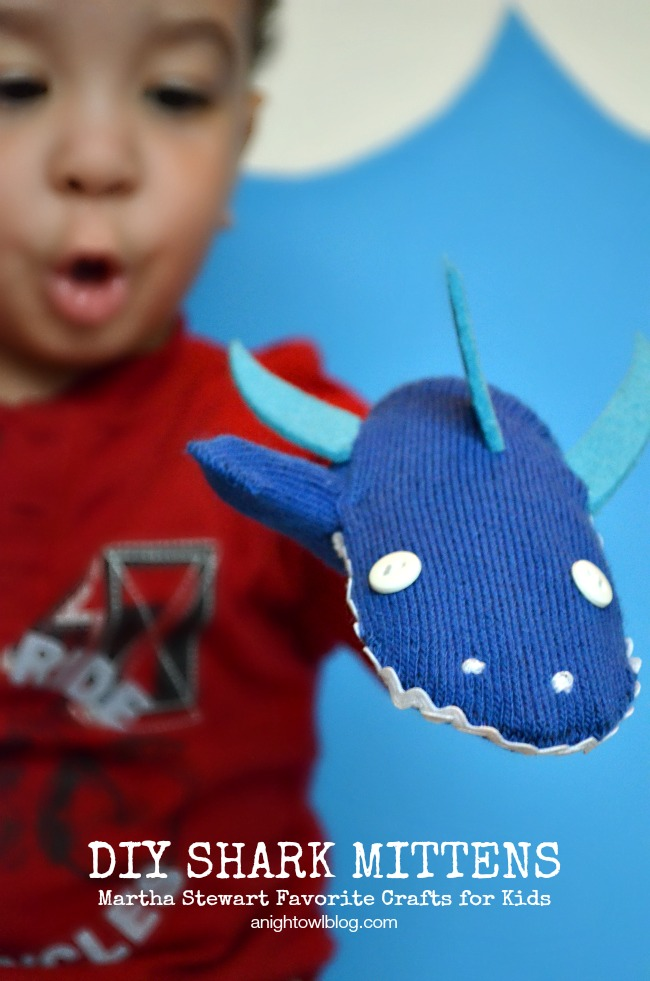 DIY Shark Mittens | A Night Owl Blog