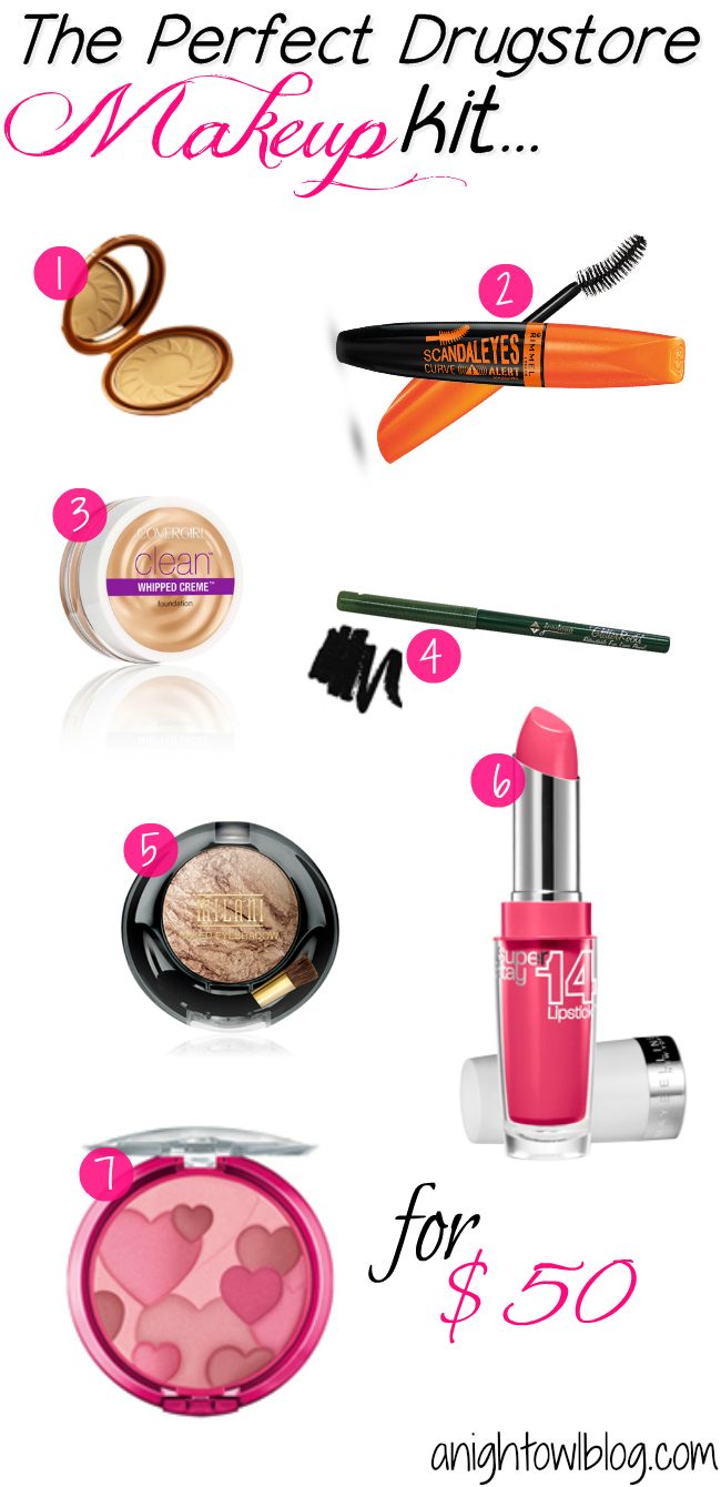 The Perfect Drugstore Makeup Kit for Under $50! | #beauty #makeup #drugstorebeauty #drugstoremakeup