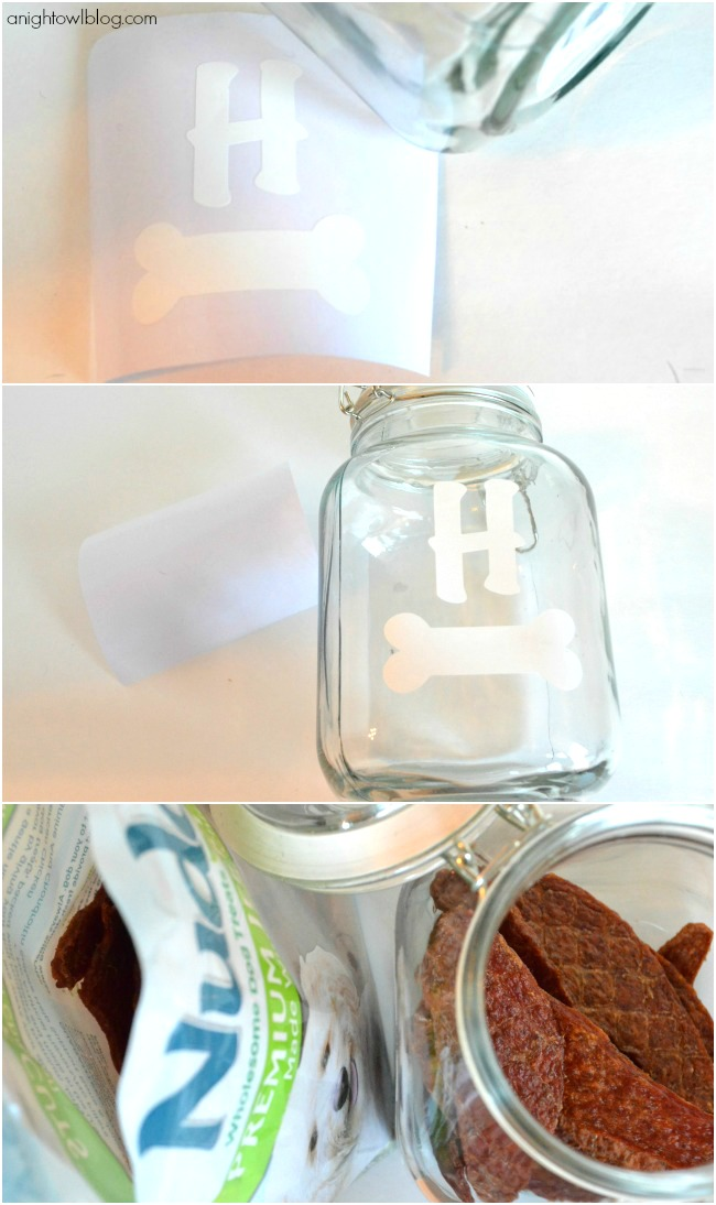 Make a Monogram Puppy Treat Jar for your Nudges! #NudgesMoments #cbias