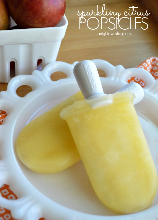Sparkling Citrus Popsicles