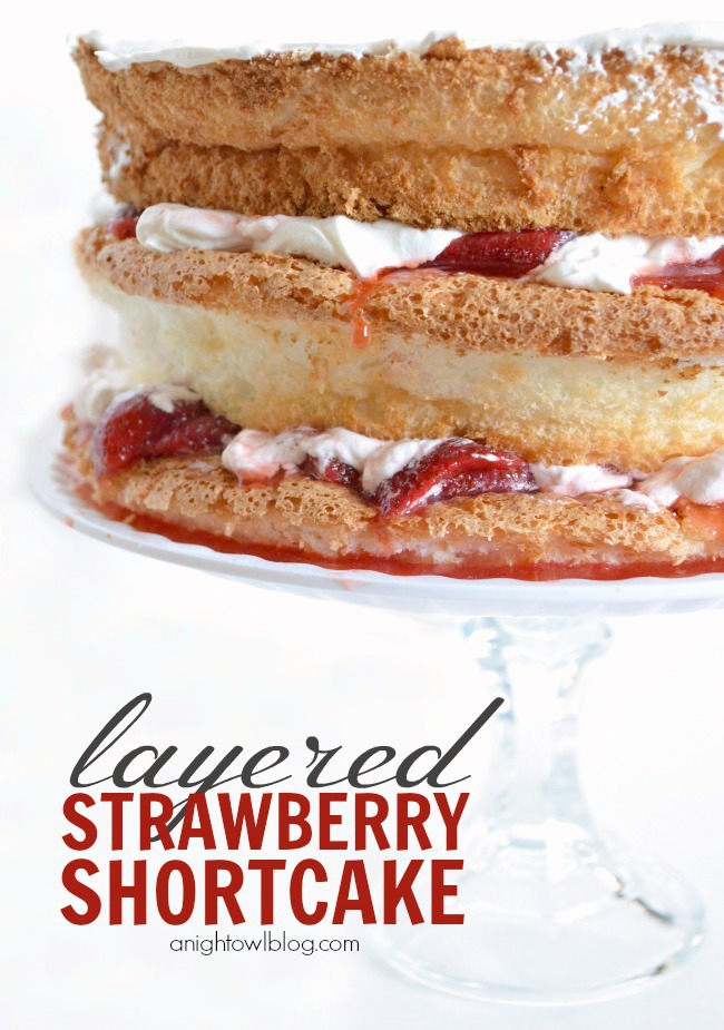 Easy Layered Strawberry Shortcake | #strawberry #shortcake #dessert #recipes