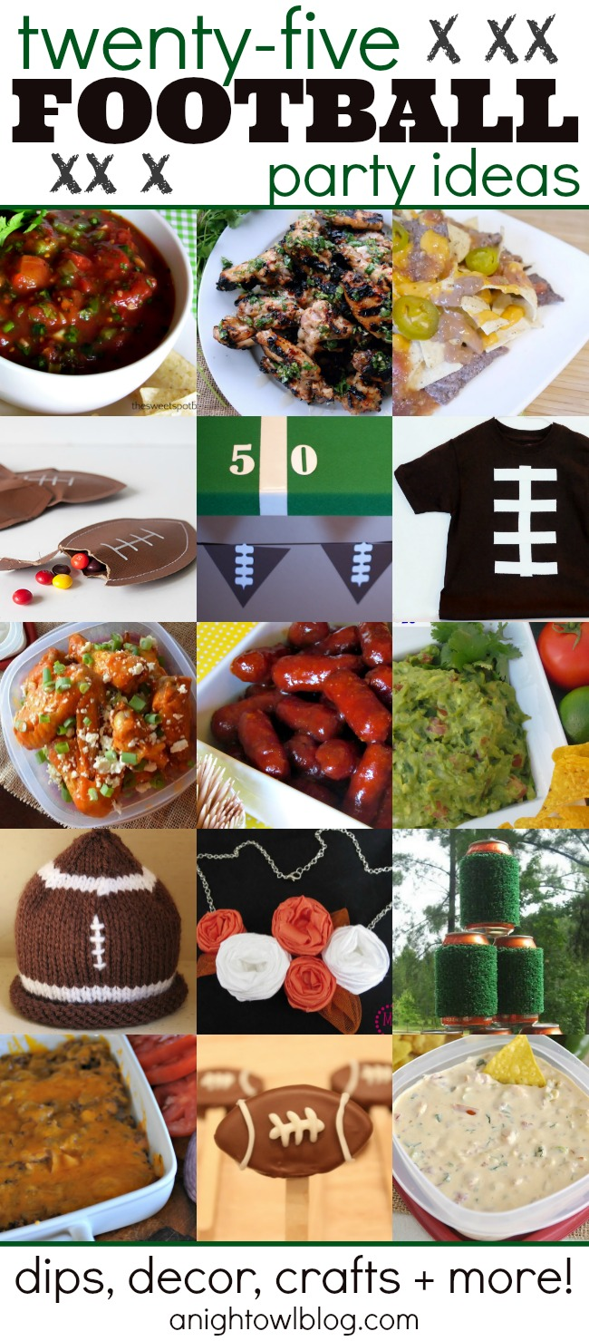25 Football Party Ideas - Food, Crafts and More! | #football #party #tailgating #superbowl #appetizers