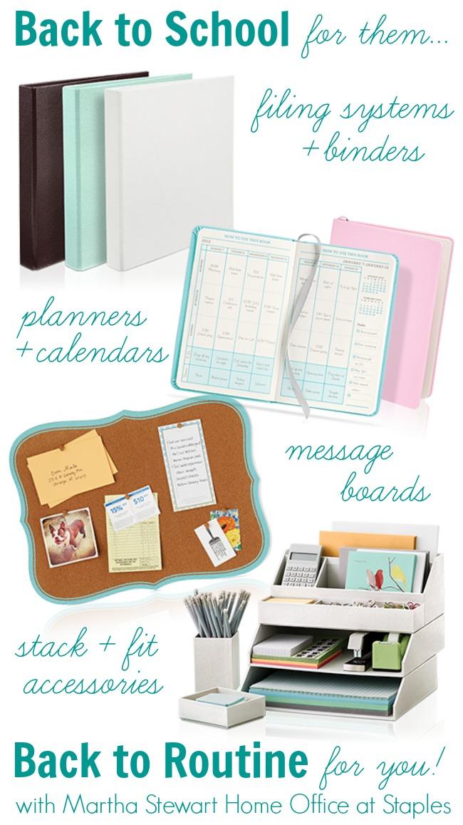 Back to School Organization with Martha Stewart Home Office | #BacktoSchool #MarthaStewart #Home #Organization