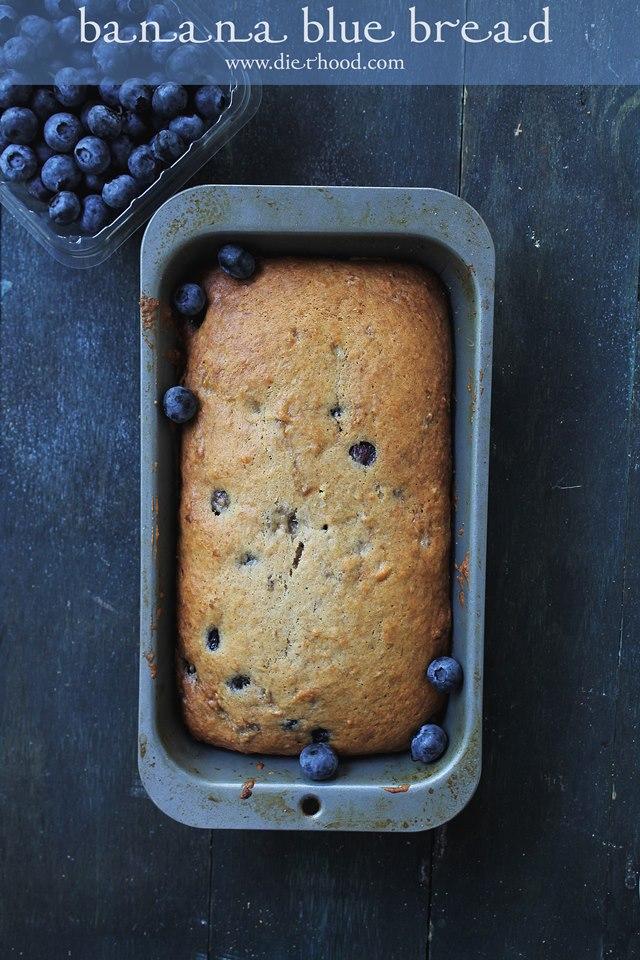 Blueberry Banana Bread Recipe | www.diethood.com | #blueberries #bananabread #recipe