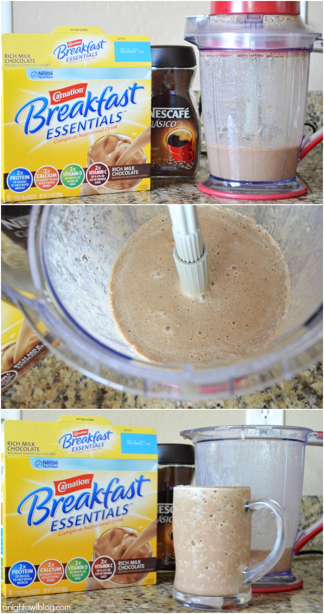 Such an easy and tasty way to start your morning! If you love mochas, you'll love this smoothie!