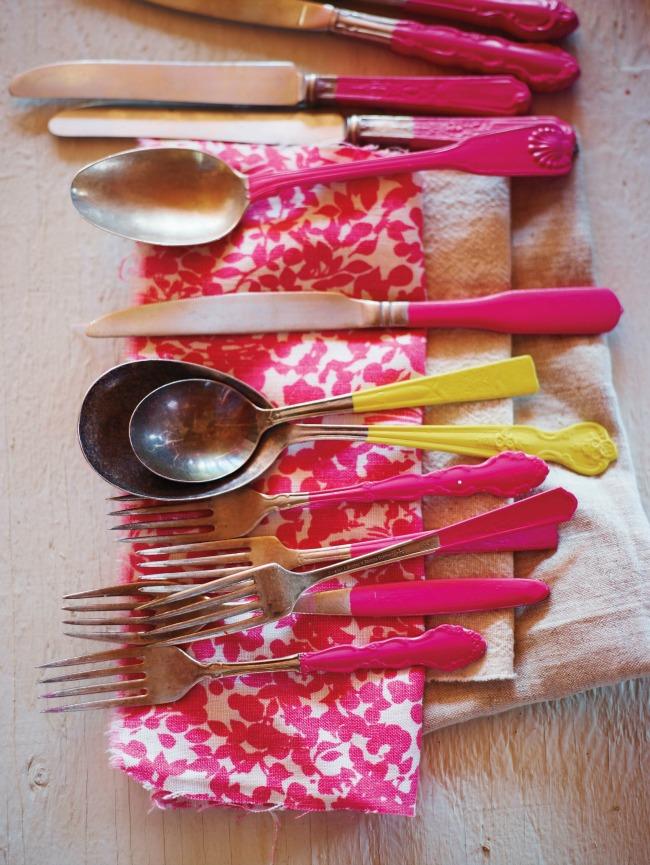 Paint dipped utensils - Martha Stewart Living