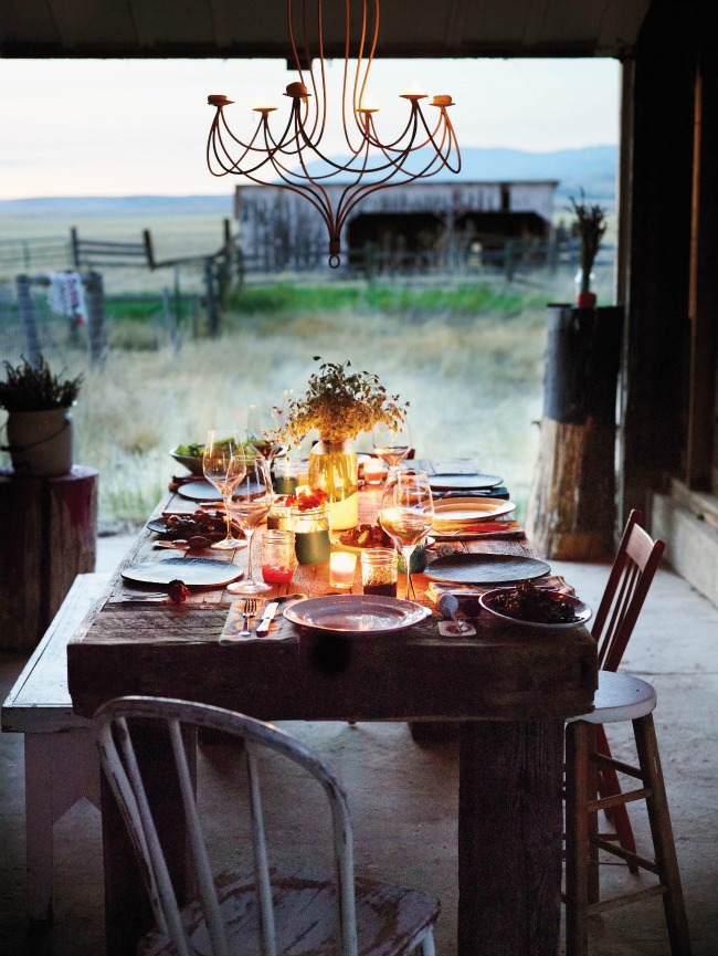Rough and rustic meets bright and new in the Jul/Aug issue of Martha Stewart Living