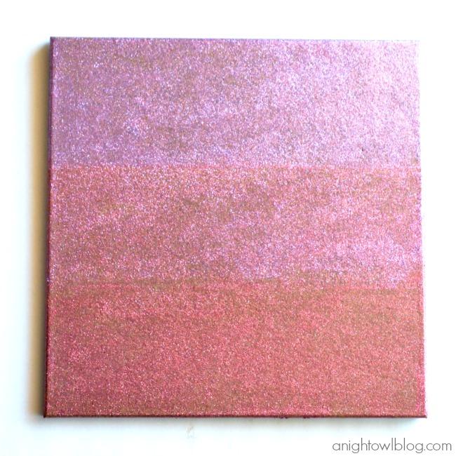Ombre Glitter Cork Board with Martha Stewart Crafts | #ombre #glitter #corkboard #12monthsofmartha #marthastewartcrafts #decoupage