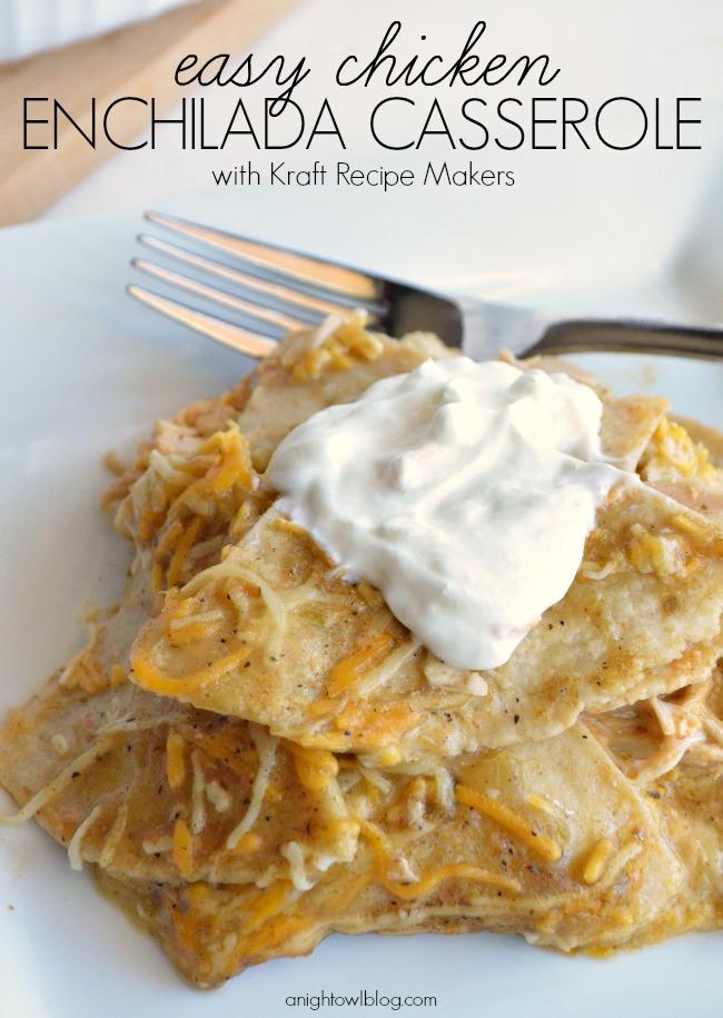 Easy Chicken Enchilada Casserole | #enchilada #casserole #recipes #RecipeMakers