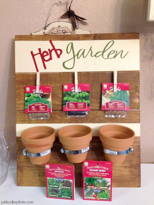 DIY Herb Garden by pinkcakeplate.com   #DIHWorkshop