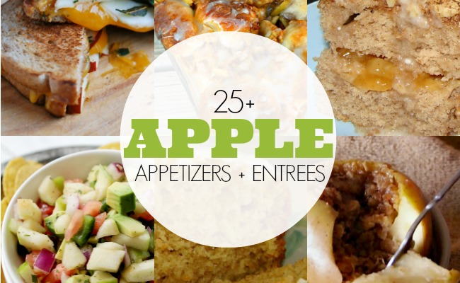 25 Apple Appetizers and Entrees | anightowlblog.com