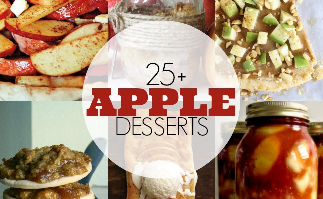 25 Awesome Apple Desserts! | #apple #desserts #recipes