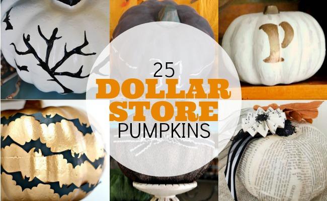 25 Dollar Store Pumpkins | anightowlblog.com