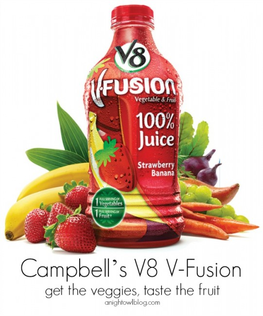Campbell's V8 V-Fusion - get the veggies, taste the fruit!
