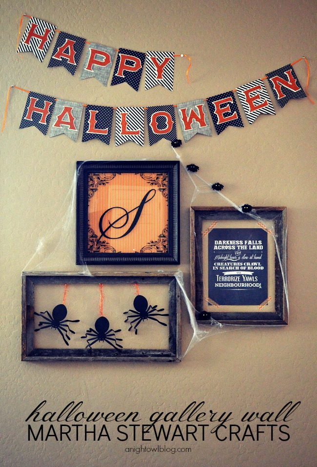 Halloween Gallery Wall with Martha Stewart Crafts at anightowlblog.com | #12monthsofmartha #marthastewartcrafts #halloween #gallerywall