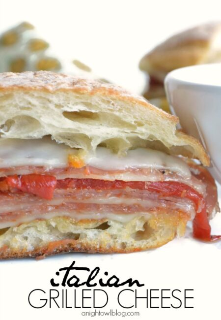 Italian Grilled Cheese Sandwich with gourmet Italian items from World Market at anightowlblog.com | #grilledcheese #recipes #worldmarket #gourmetgiveaway