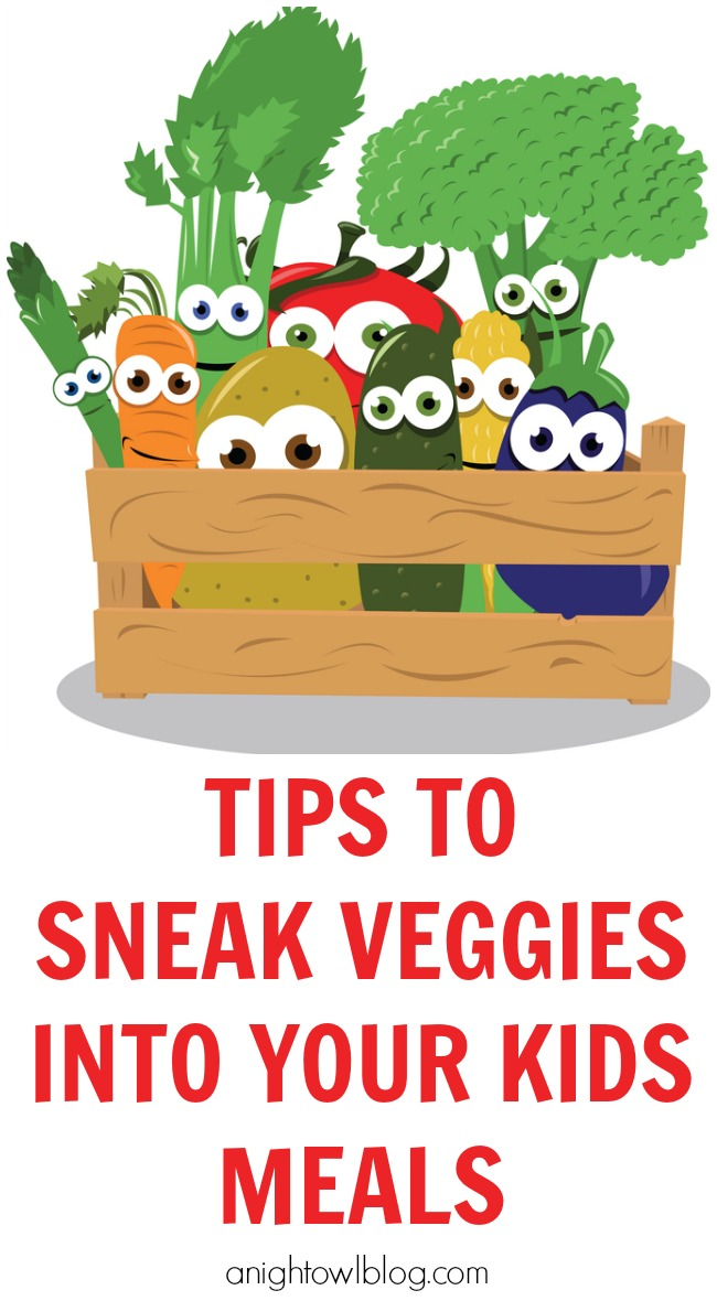 Tips on how to sneak veggies into your kids meals!