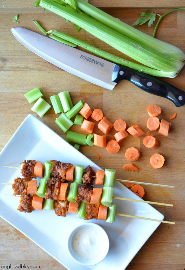 Tyson Buffalo Chicken Kabobs #shop #MealsTogether #cbias