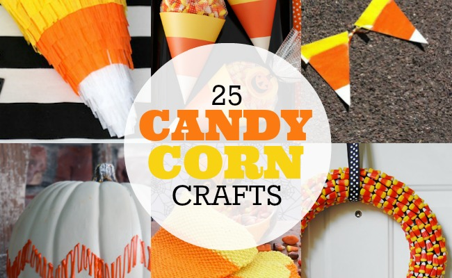 25 Candy Corn Crafts | anightowlblog.com