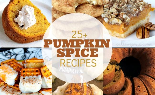25 Pumpkin Spice Recipes | anightowlblog.com
