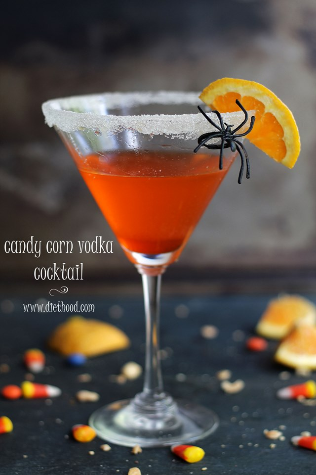 Candy Corn Vodka Cocktail | www.diethood.com | www.anightowlblog.com