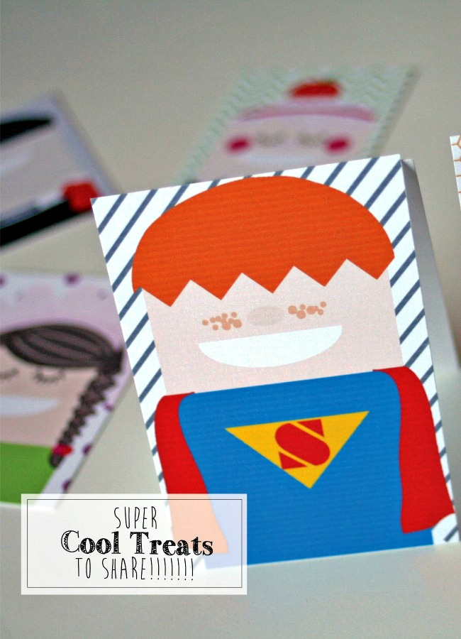 Cool Kids Easy Printable Halloween Treats - Just Us Three for anightowlblog.com | #halloween #treats #favors #crafts