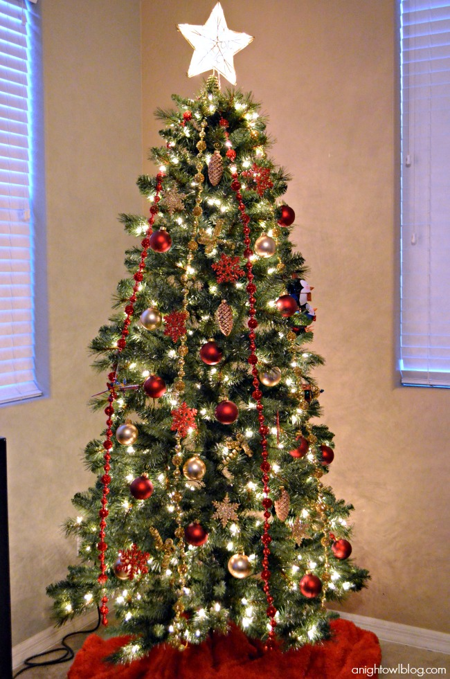 Red and Gold Christmas Tree - Michaels Dream Tree Challenge #JustAddMichaels