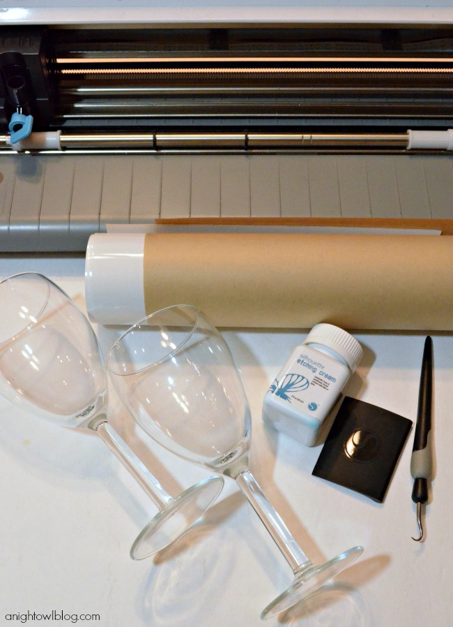 Silhouette Glass Etching Kit
