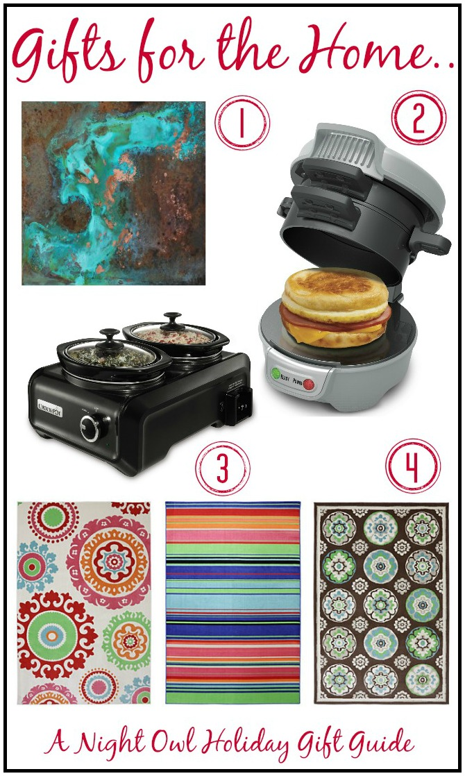 A Night Owl Holiday Gift Guide - Gifts for the Home