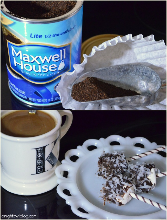 Coffee and Easy Chocolate Coconut Marshmallow Pops with #KraftEssentials #shop