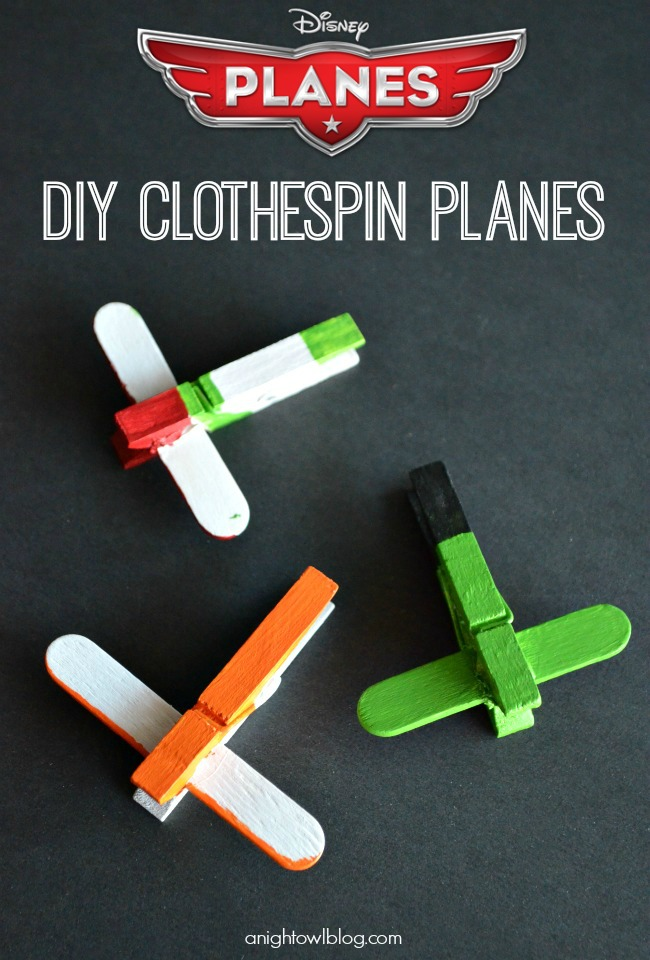 Disney Planes DIY Mini Clothespin Airplanes #OwnDisneyPlanes #shop