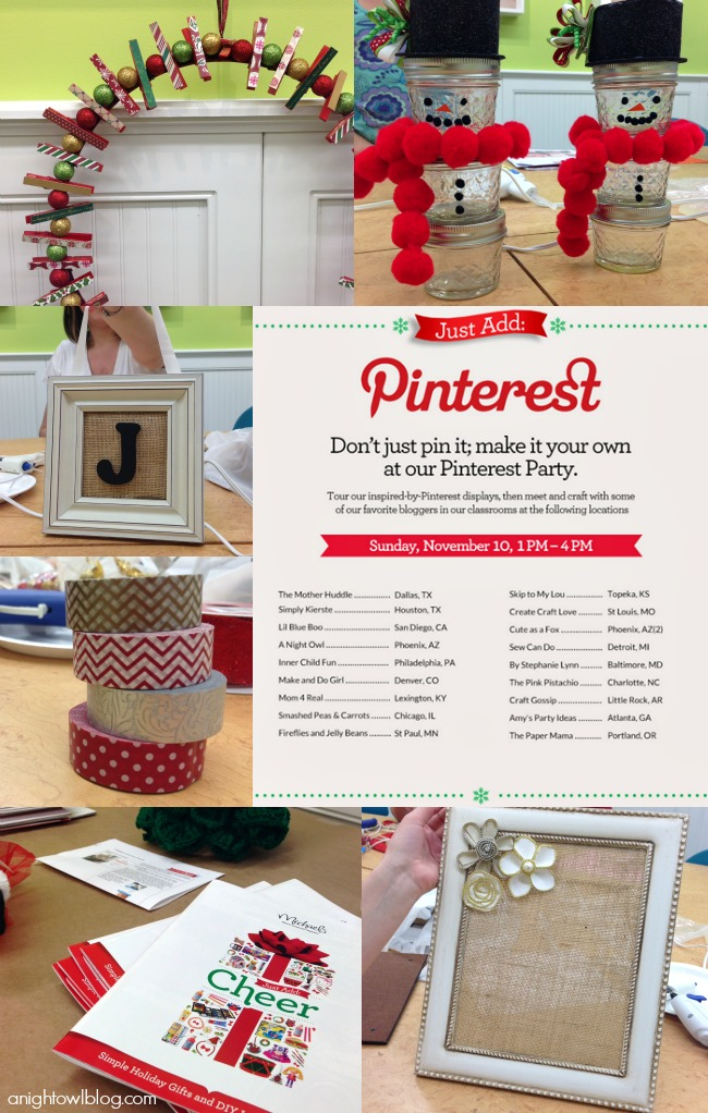 Michaels Pinterest Party #MPinterestParty #JustAddMichaels