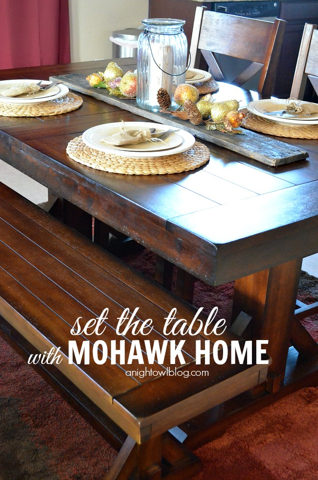 Holiday table ideas with #MohawkHome #SettheTable