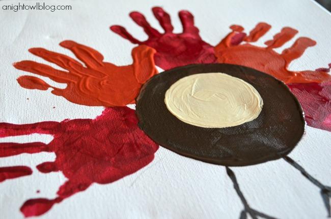 Thanksgiving Kids Crafts - Easy Handprint Turkey